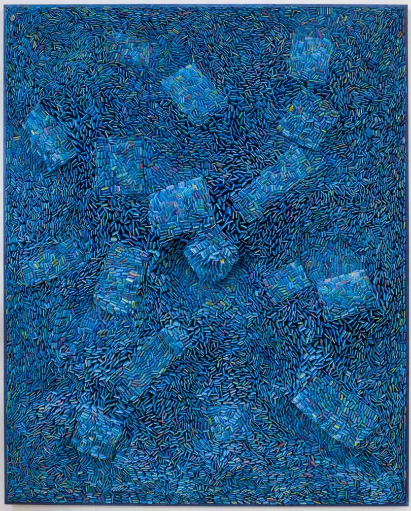 Ilhwa Kim, Seed Universe 103, 2019, Hand-dyed Hanji paper (192 x 224 x 16 cm)