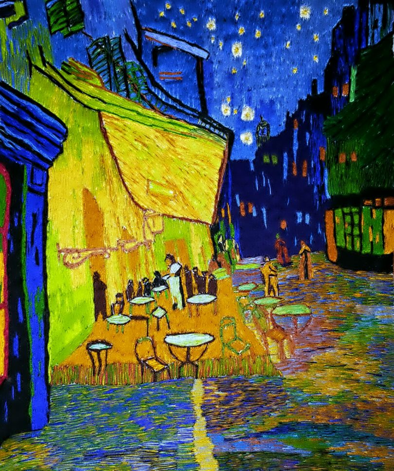 Inspired by Café Terrace at Night - Vincent van Gogh