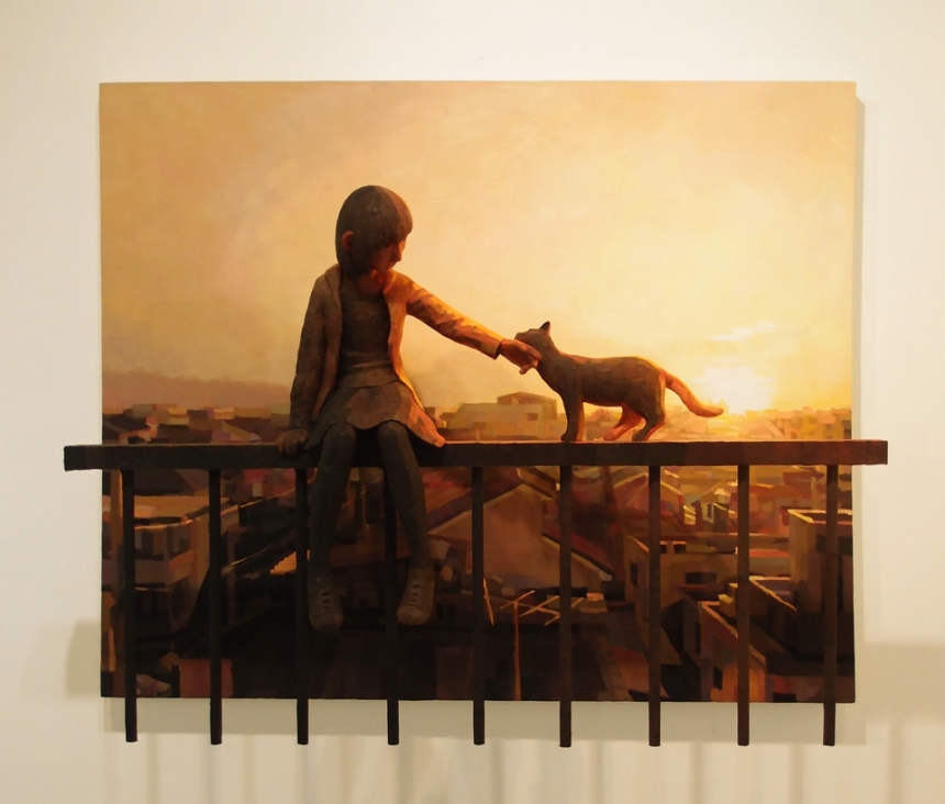 artist shintaro ohata blends sculptures and paintings to