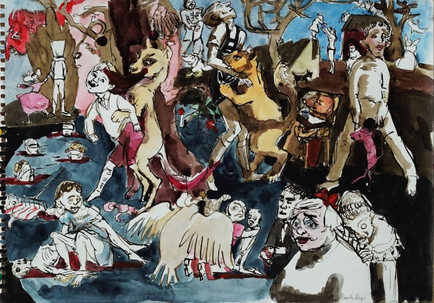 Paula Rego, Untitled (Boys Dancing with Animals), 2005, Private Collection © Paula Rego, courtesy Marlborough Fine Art