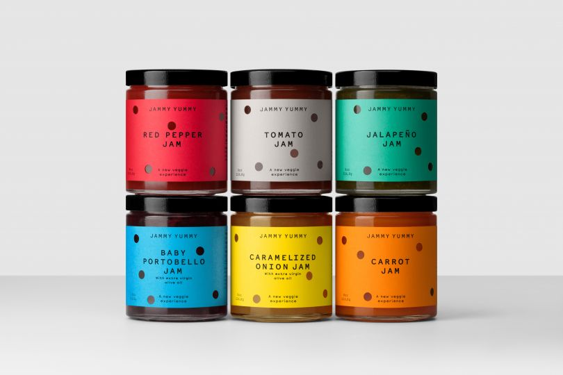 Jammy Yummy logo and packaging