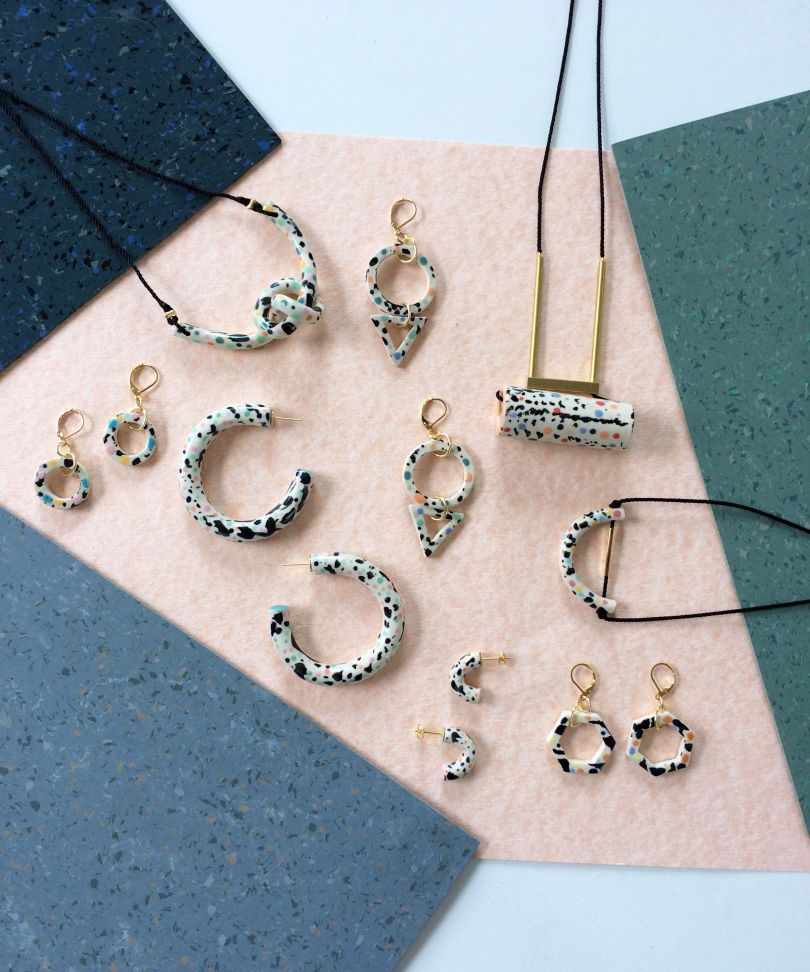 Speckled collection by [Aliyah Hussain](https://shop.ahussainjewellery.co.uk/product/speckled-loop-necklace-peony). Prices start from £25
