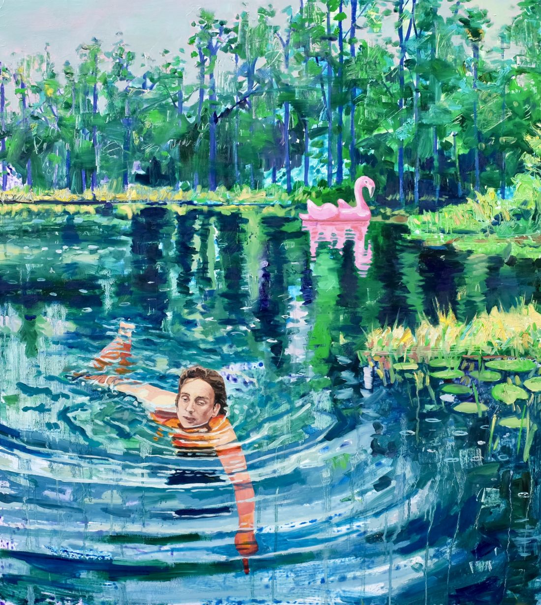 Paintings of Utopia by Danielle Klebes that pose the question, 'Does paradise exist?'