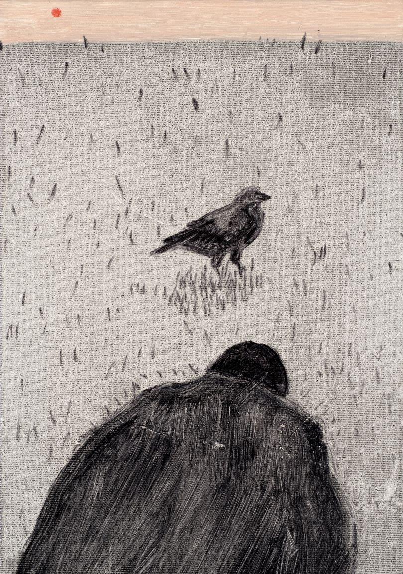 Raven, 2018, oil on canvas, 35 x 25 cm