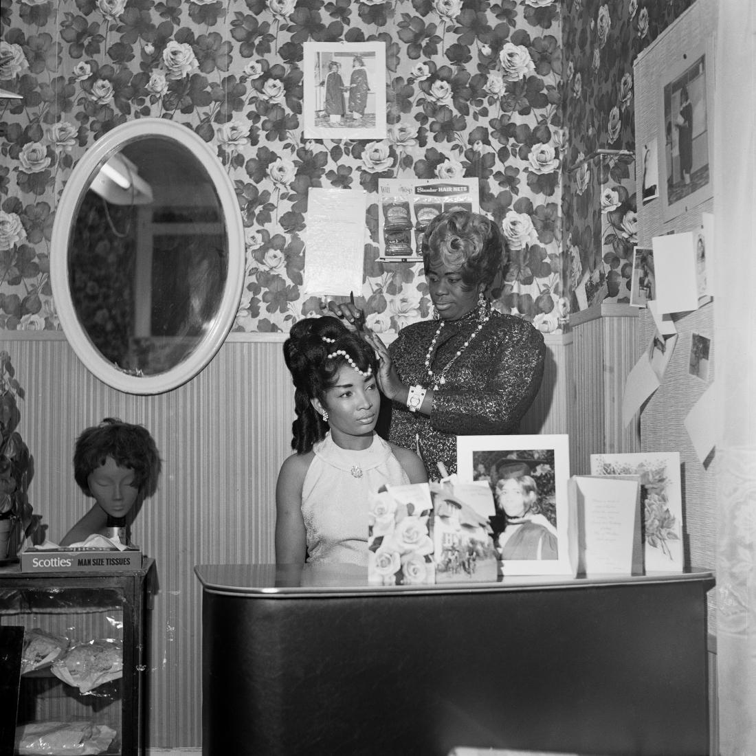 Beauty Salon, Hammersmith, London, c.1960s/70s. From the portfolio 'Black Beauty Pageants'. © Raphael Albert, courtesy Autograph ABP