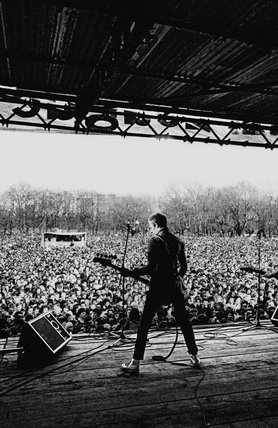 Paul Simonon, The Clash, Rock Against Racism / Anti Nazi League Carnival 1, Victoria Park, East London 30 April 1978. The Carnival line-up also included punk poet Patrick Fitzgerald, X-ray Spex, Steel Pulse and Tom Robinson Band