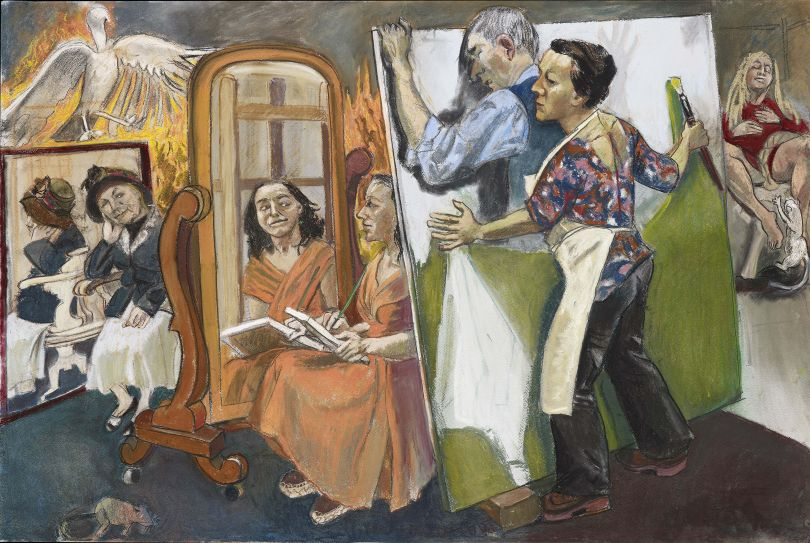 Paula REGO (b. 1935) Painting Him Out, 2011 Pastel on paper mounted on aluminium , 119.4 x 179.7 cm Collection: Private collection © Paula Rego, courtesy of Marlborough, New York and London