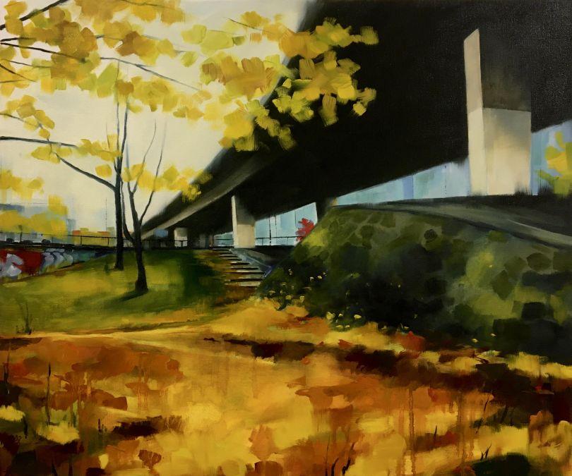 Jen Orpin: Autumn Has Landed (Oil on Canvas) 50x60cm