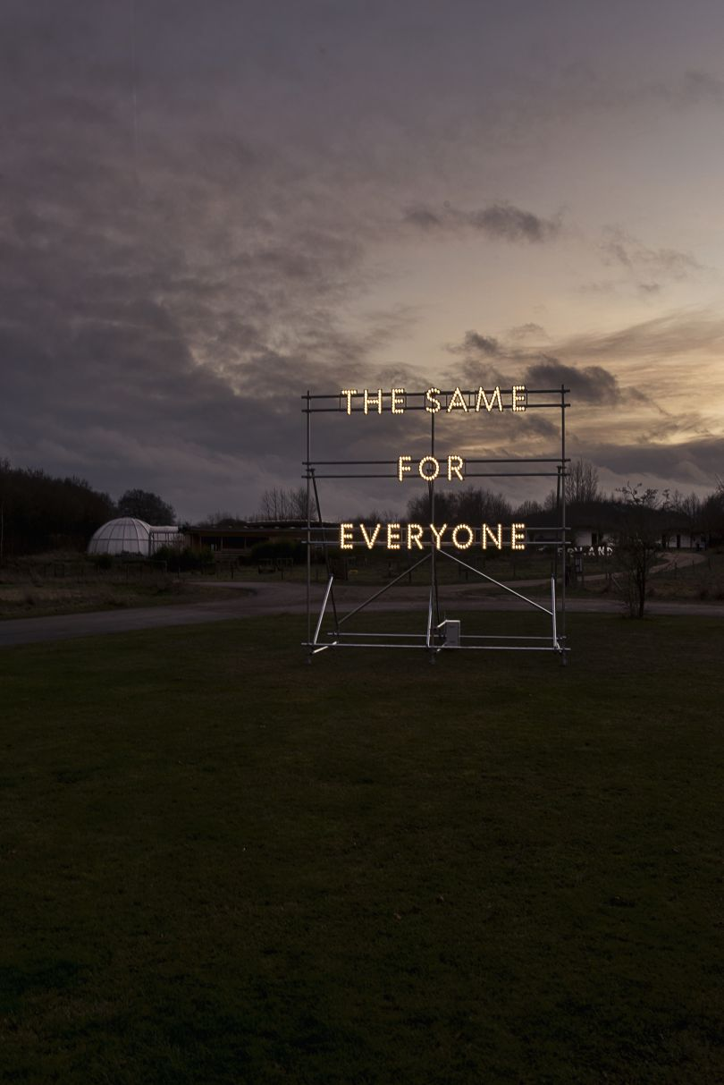 Nathan Coley, The Same for Everyone (2017), copyright the artist © Aarhus2017