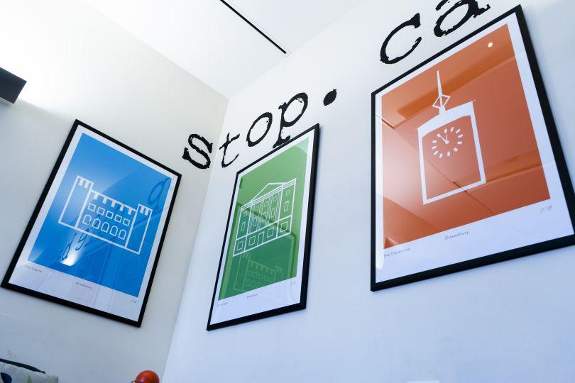 Prints for the Shrewsbury Museum Coffeeshop