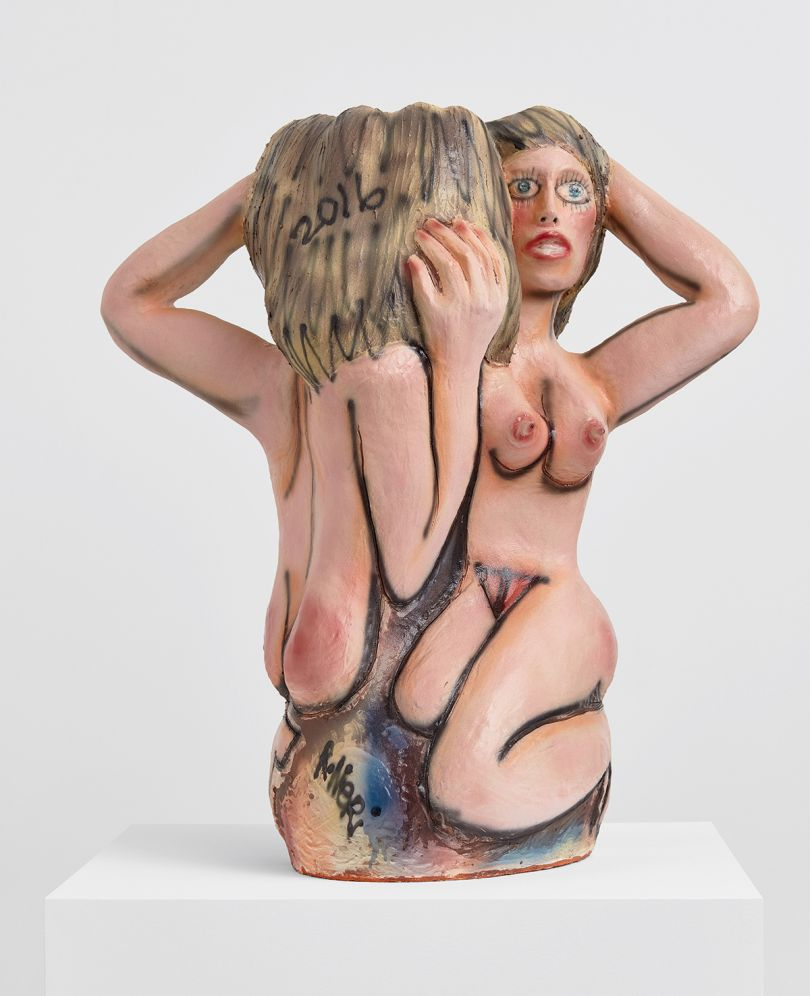 Ruby Neri, Untitled (Small Double Lady), 2016, ceramic with glaze, 97.8 × 83.8 × 55.9 cm (38 ½ × 33 × 22 in). Picture credit: Courtesy of David Kordansky Gallery, Los Angeles / Photo: Lee Thompson
