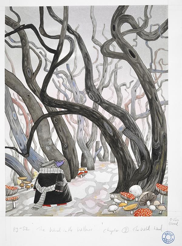 Wind in the Willows original artwork, illustrations (c) David Roberts