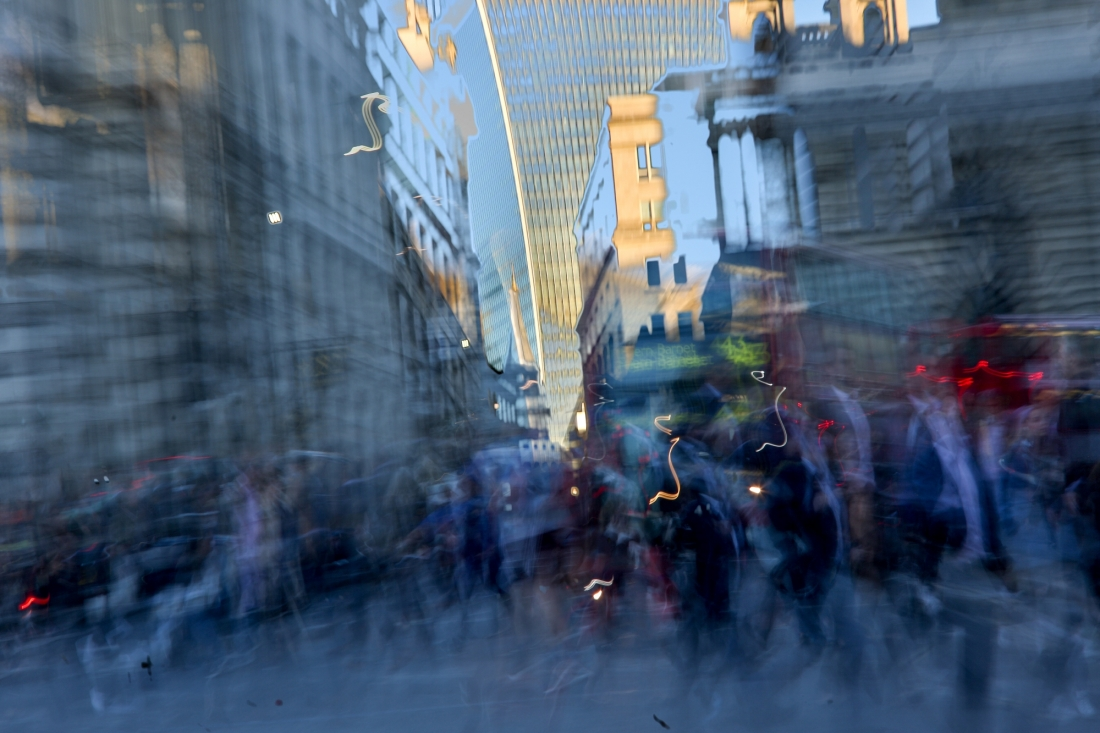 Sundown at Bank Junction: Photography series captures timeframe between  twilight and dusk