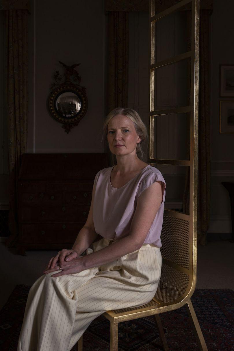 Gitta Gschwendtner on her chair. Photo credits: Oskar Proctor
