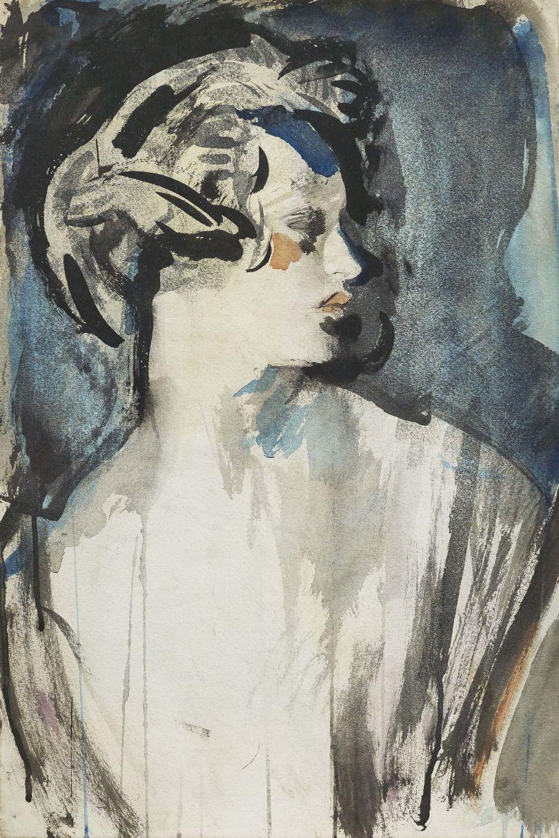 The Hon. Lois Sturt (later Viscountess Tredegar) (1900-37), 1920 – Ambrose McEvoy (1877-1927). Copyright Philip Mould & Company