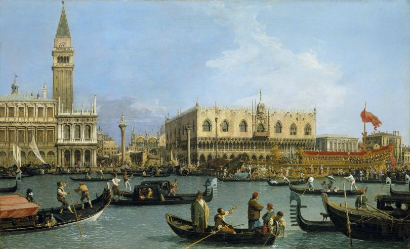 'Canaletto & the Art of Venice' Canaletto The Bacino di San Marco on Ascension Day c.1733–4 Royal Collection Trust/ © Her Majesty Queen Elizabeth II 2018