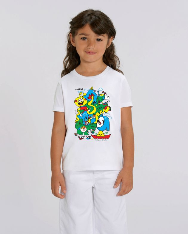 Jon Burgerman x Kartini Face This T-shirt girls