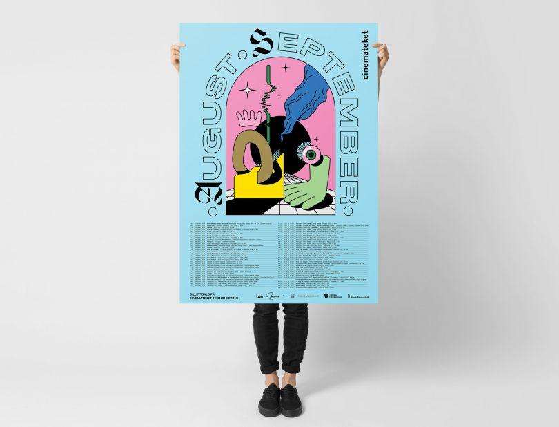 Hugmun's acid trip poster series for a Norwegian arthouse cinema