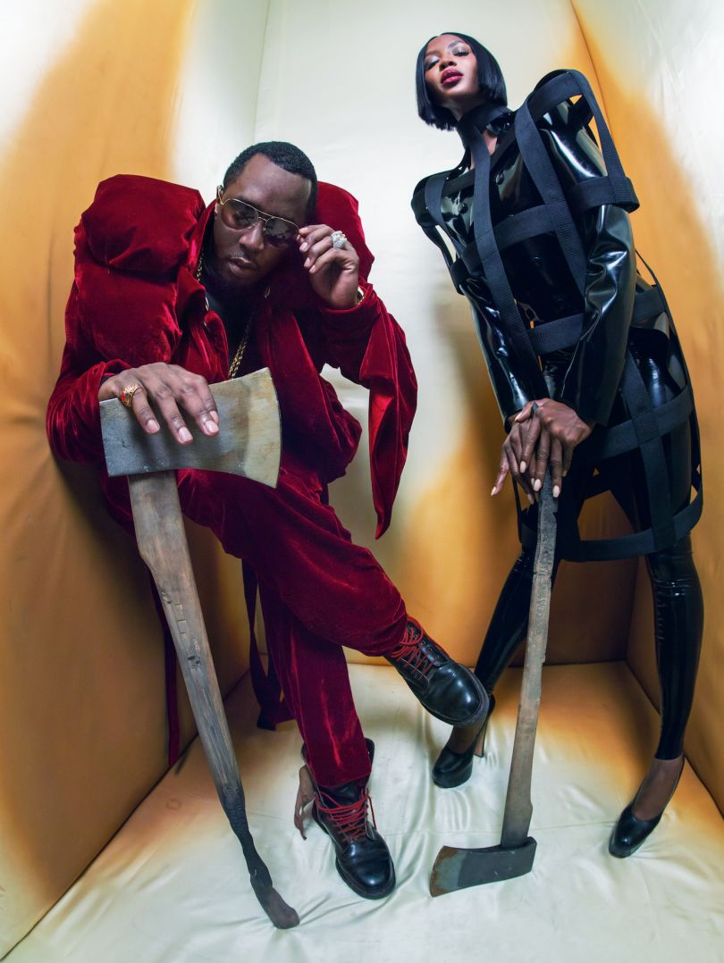 Naomi Campbell and Sean 'Diddy' Combs as The Beheader