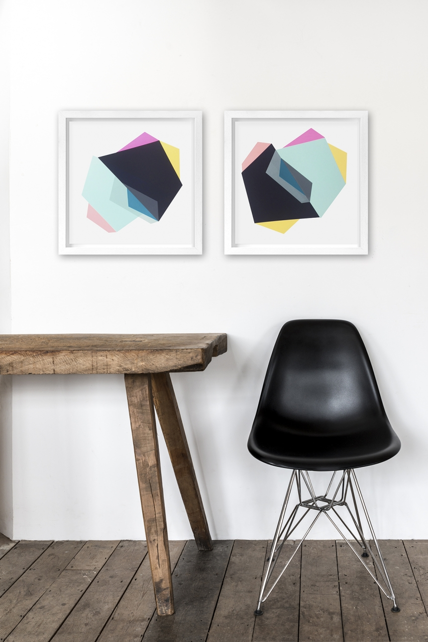 Frea Buckler's screen printed explosion of colourful geometric shapes