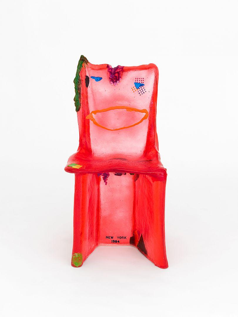 Gaetano Pesce, Pratt Chair #7 1984/2018 (Red), 2019. Polyurethane resin, Smooth-On pigment; 37 x 19 x 20 in (94 x 48.3 x 50.8 cm). Courtesy the artist, Salon 94, and South Etna Montauk.