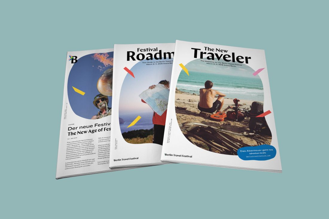 Дизайн публикации для Берлинского фестиваля путешествий.