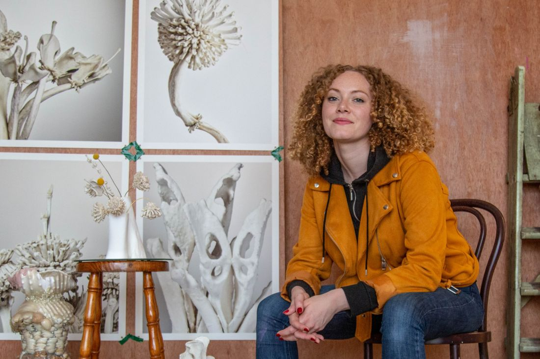 Emma Witter on why she turns discarded animal bones into intricate botanical sculptures