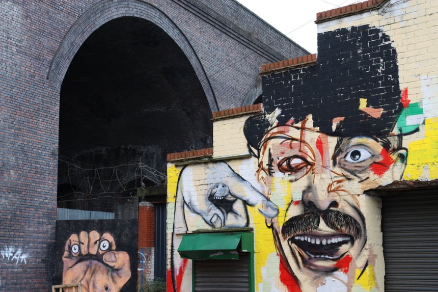 Street art in Birmingham's creative Digbeth district. Image Credit: Tupungato/[Shutterstock](http://www.shutterstock.com/)