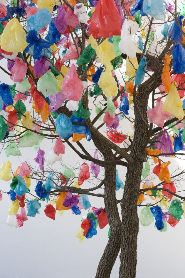 Pascale Marthine Tayou Plastic Tree B, 2010 © the artist 2020  Courtesy the artist and Galleria Continua, San Gimignano / Beijing / Les Moulins / Habana.  Photo: Oak Taylor-Smith