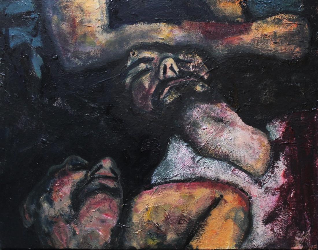 dark oil paintings by steve higgins that convey the