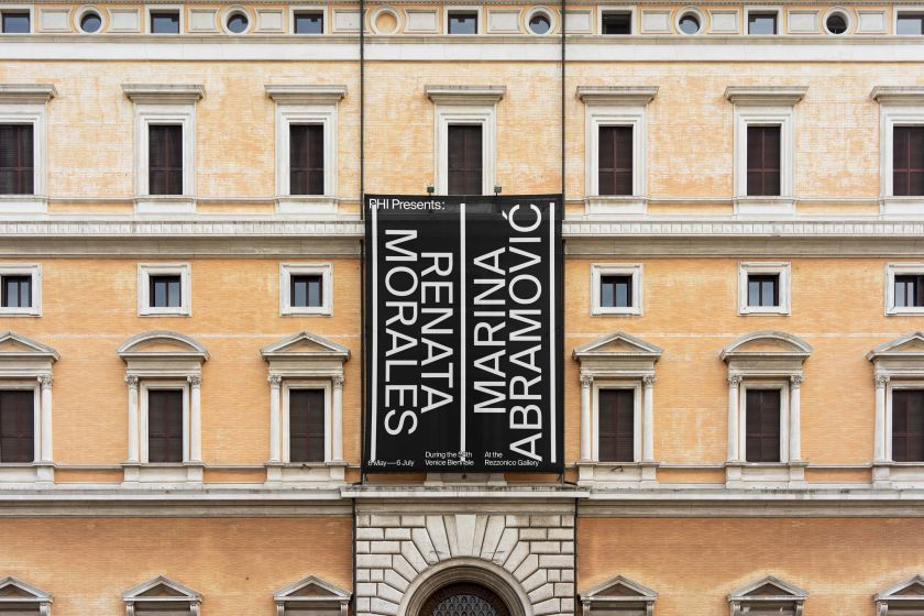 Campaign for a joint exhibition by Phi, showcasing Renata Morales and Marina Abramović's work at the Ca' Rezzonico Gallery during The Venice Biennale in 2019