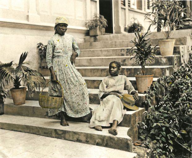 "Ingrid Pollard, The Valentine Days #1 ""Negro Girls, J.V.13994"", 1891/2017. Courtesy of Ingrid Pollard/The Caribbean Photo Archive/Autograph ABP"