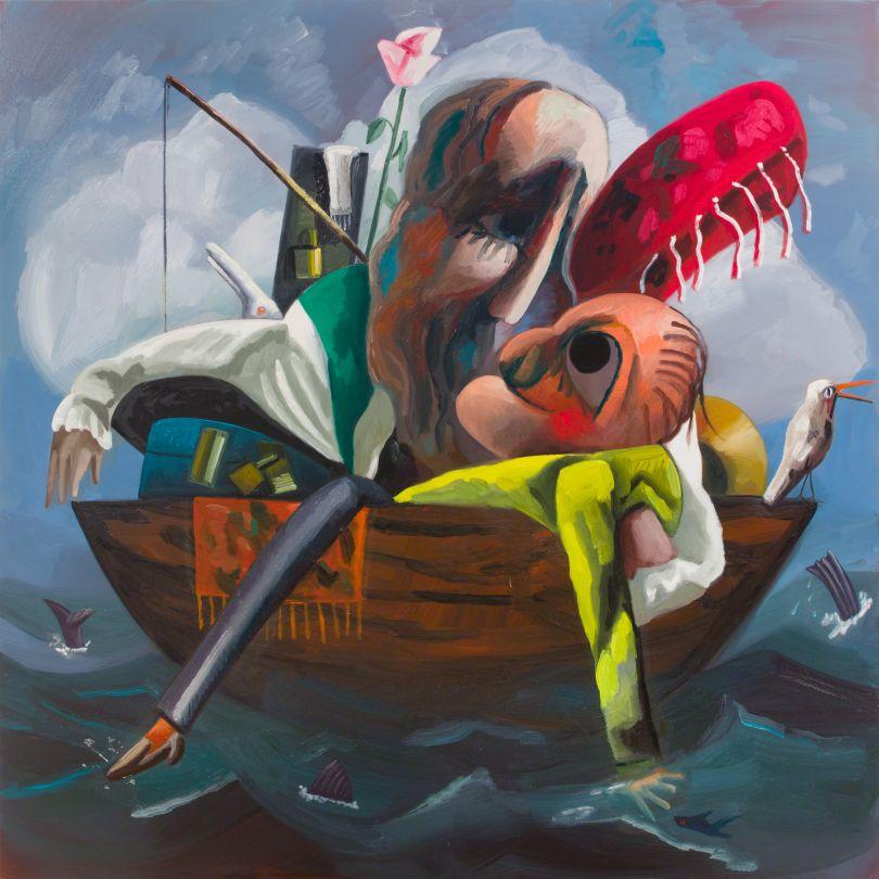 Dana Schutz Imagine You and Me 2018 Oil on canvas 223.5 x 223.5 cm ScH 18/016 © Dana Schutz. Courtesy the artist, Petzel Gallery, NY and Thomas Dane Gallery