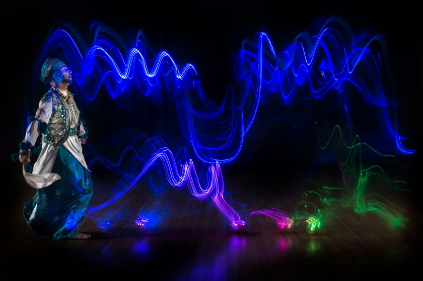 'Light painting' photographs that celebrate the beauty of bhangra music and dance
