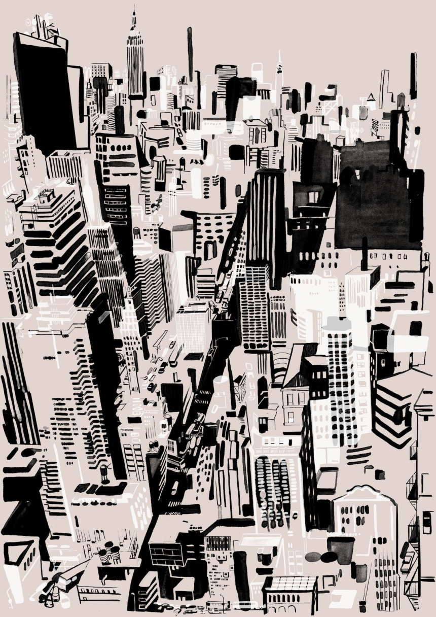 Downtown, Silkscreen, 2016