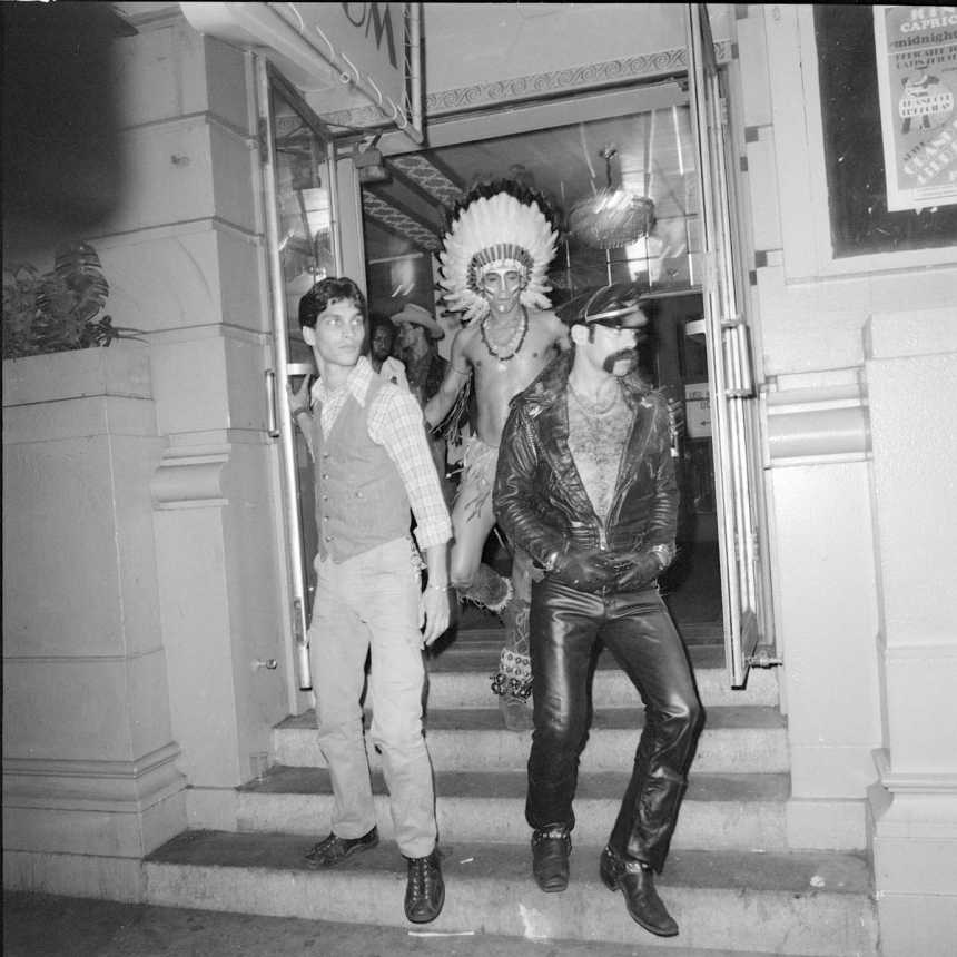 The Village People Stepping out, The Grand Ballroom NY, June 1978 ©Meryl Meisler