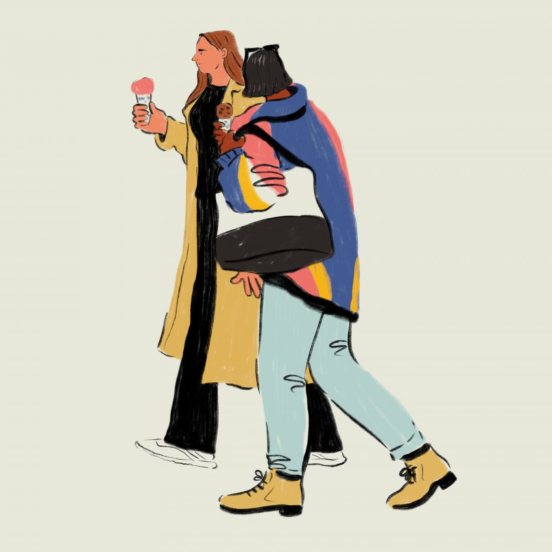 Hayley Tippmann's 'bold and loose' illustrations of modern people around the world