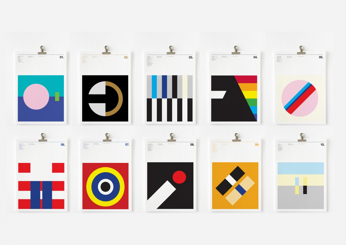 Minimalist music classic album covers broken down into for Minimalist book design