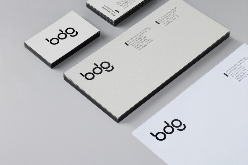 Cool, minimalist and iconic brand identity for BDG by San Francisco's Manual
