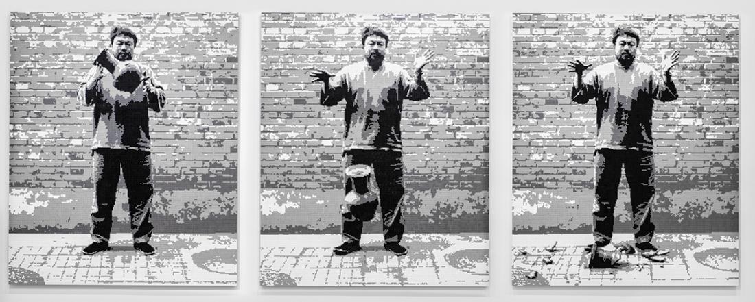 Ai Weiwei Dropping a Han Dynasty Urn, 2016 LEGO bricks, Ai Weiwei Studio