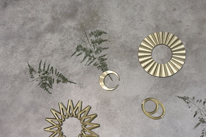 Brass bottle openers and solid brass trivets by Masanori Oji for Futagami. Photography by Joanna Henderson.