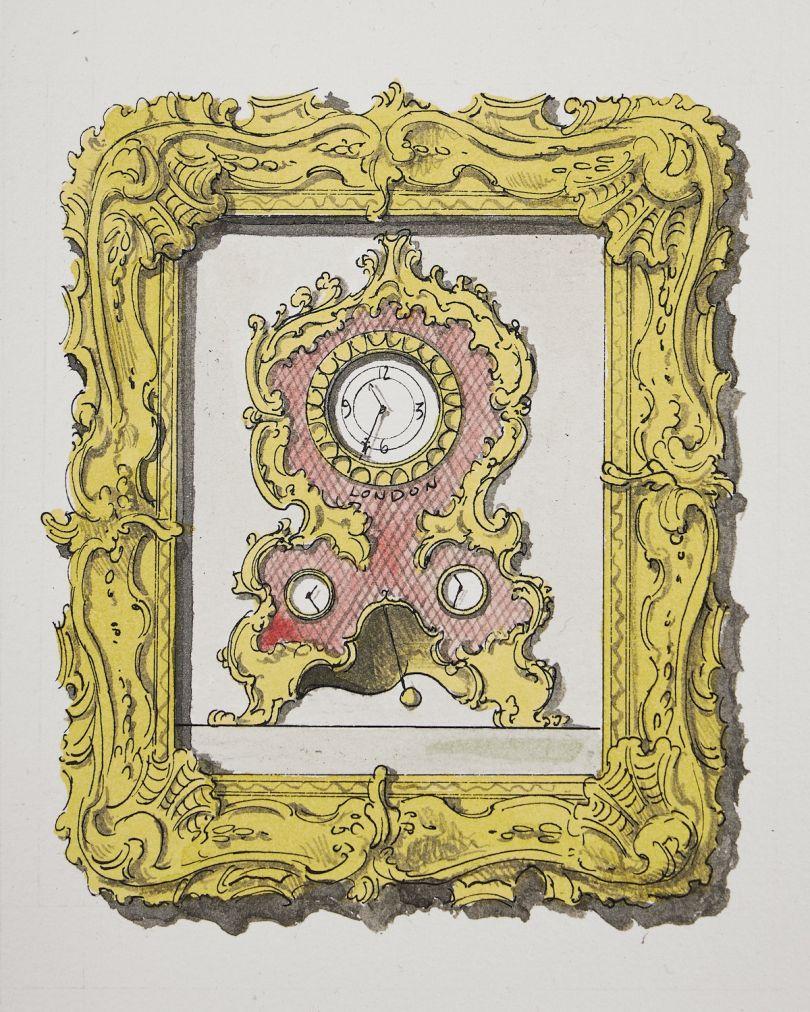 Pablo Bronstein, Rococo Clock, 2020 © Pablo Bronstein