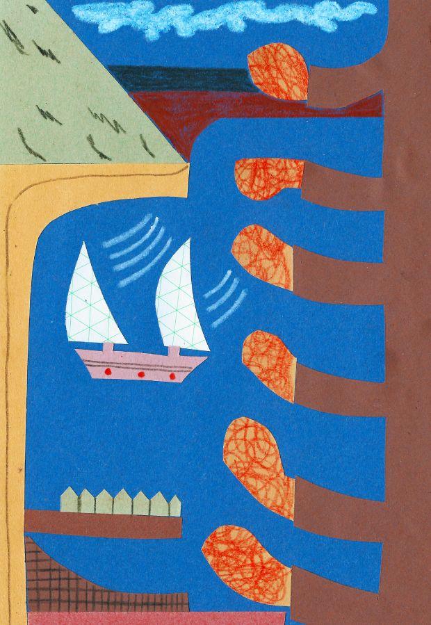 Hugo Bilton, Boat in Harbour, 2021