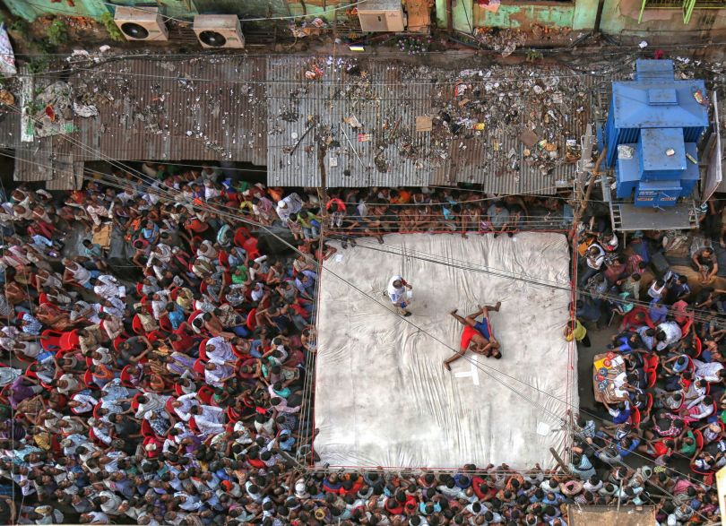 Street Wrestling. © Retam Kumar Shaw. Documentary Single Image Winner, Magnum and LensCulture Photography Awards 2017