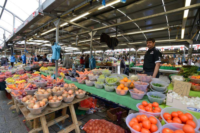 A market stall at Birmingham's Bullring Market. Image Credit: astudio/[Shutterstock](http://www.shutterstock.com/)