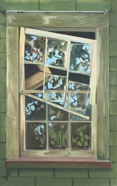 Lois DODD, Falling Window Sash, 1992 Oil on linen 60 x 38 inches 152,4 x 96,5 cm