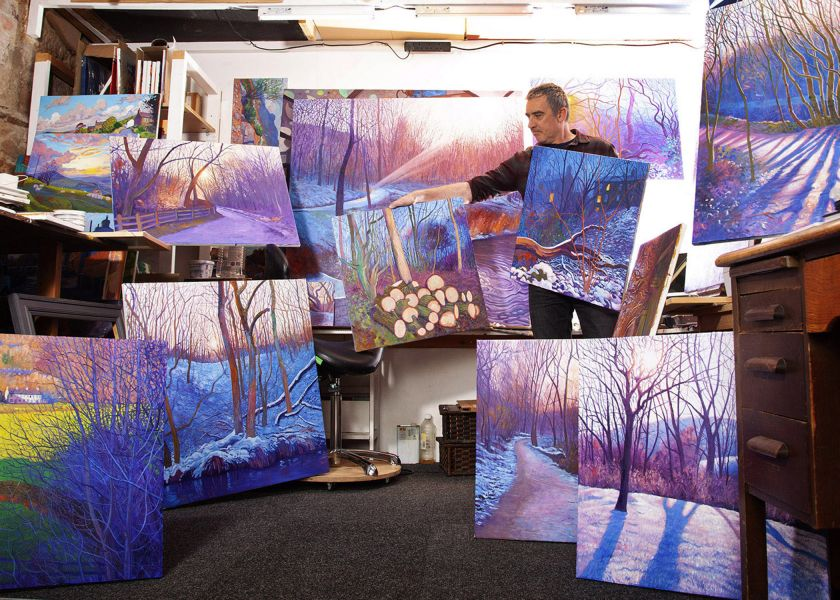 Chris Cyprus' dream-like treescape paintings have been twenty years in the making