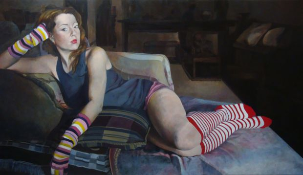 Paula Saneaux - Yes, it is -  Acrylic on Canvas - 36x60 in - 2011