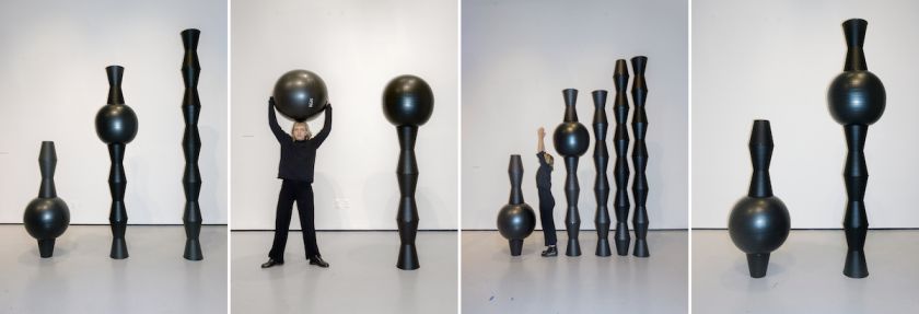 Performing Bin Ball Body (silent score) at the Yale Green Hall Gallery