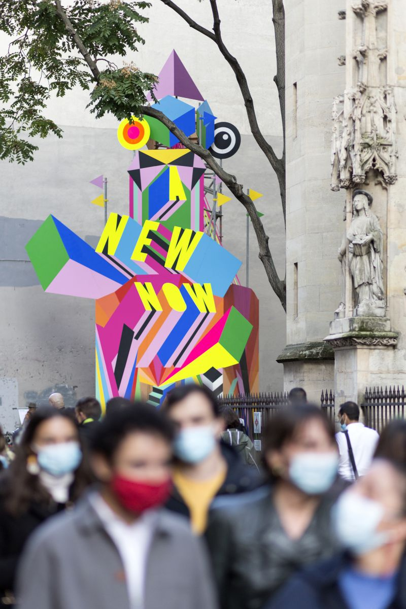 Morag Myerscough's latest street installation hopes to give Parisians hope for the future